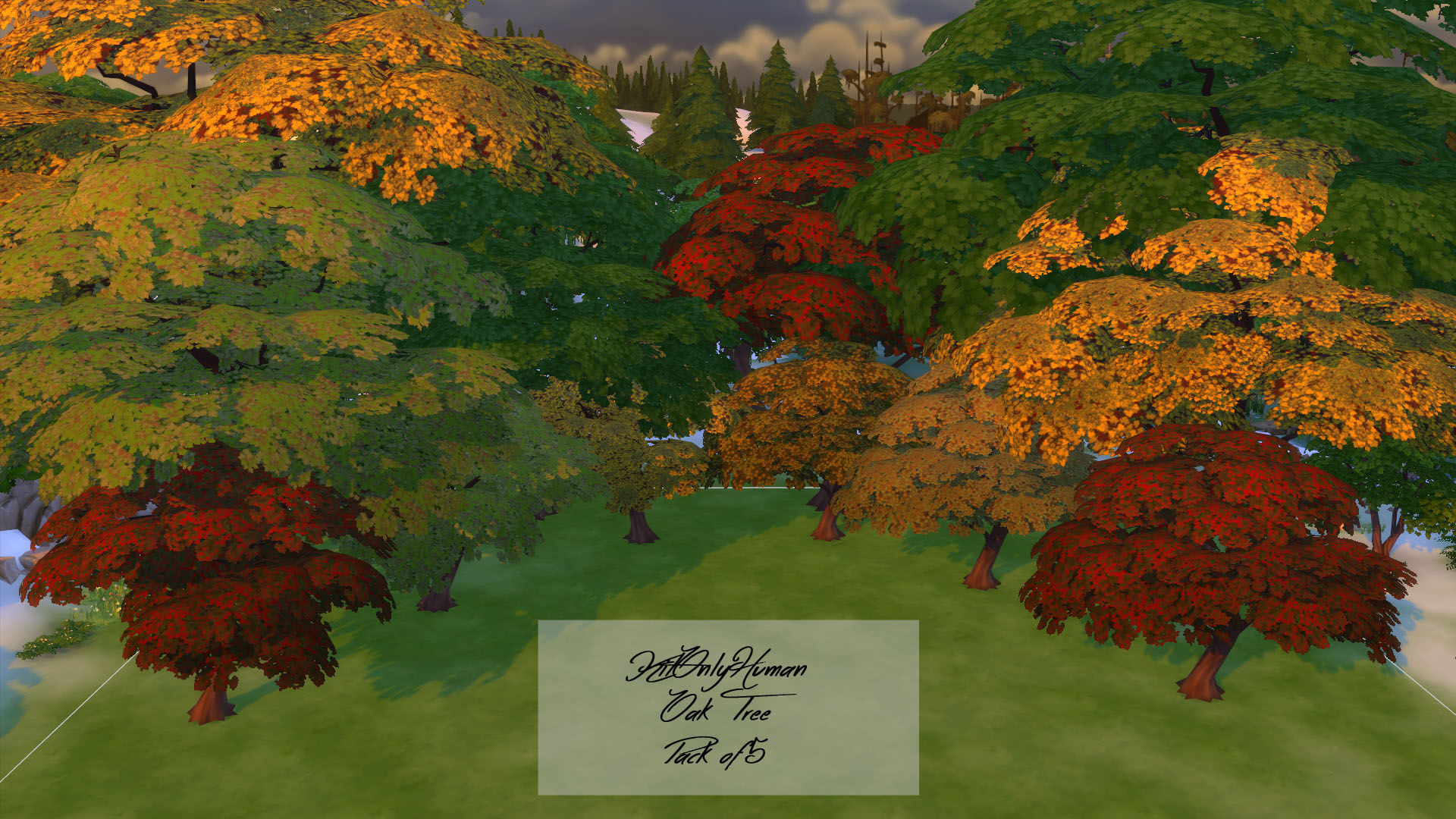 Mod The Sims - Fall Color Oak Trees